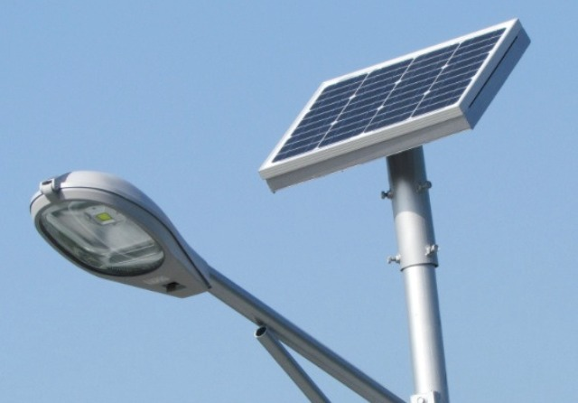 Instalan alumbrado p blico solar mem for Alumbrado solar exterior