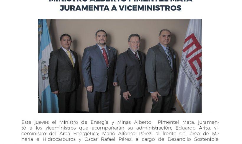 Ministro Alberto Pimentel juramenta a Viceministros